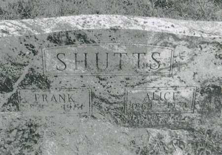 SHUTTS, ALICE ARRISSA - Warren County, Ohio | ALICE ARRISSA SHUTTS - Ohio Gravestone Photos