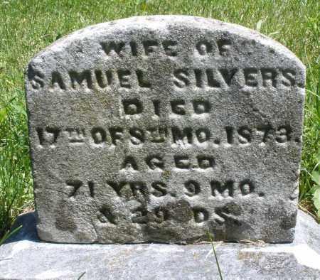 SILVERS, THAMSON M - Warren County, Ohio | THAMSON M SILVERS - Ohio Gravestone Photos