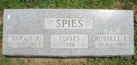 SPIES, TOOTS - Warren County, Ohio | TOOTS SPIES - Ohio Gravestone Photos