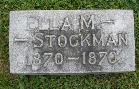 STOCKMAN, ELLA M. - Warren County, Ohio | ELLA M. STOCKMAN - Ohio Gravestone Photos