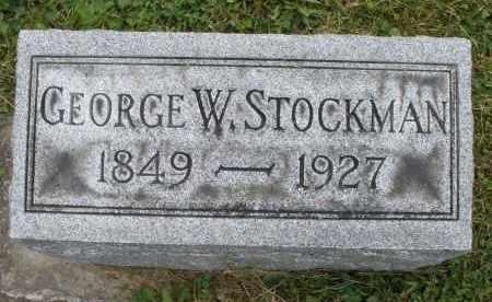 STOCKMAN, GEORGE W. - Warren County, Ohio | GEORGE W. STOCKMAN - Ohio Gravestone Photos