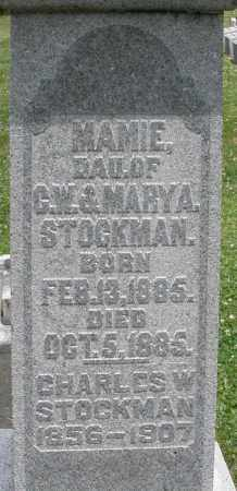 STOCKMAN, MAMIE - Warren County, Ohio | MAMIE STOCKMAN - Ohio Gravestone Photos