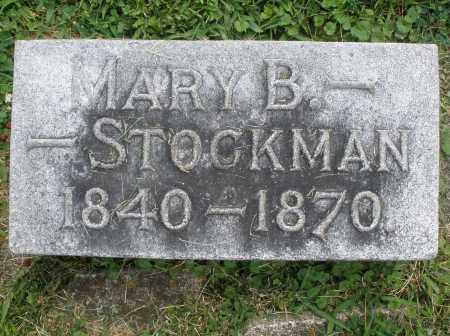 STOCKMAN, MARY B. - Warren County, Ohio | MARY B. STOCKMAN - Ohio Gravestone Photos