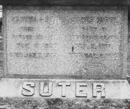 SUTER, JAMES - Warren County, Ohio | JAMES SUTER - Ohio Gravestone Photos