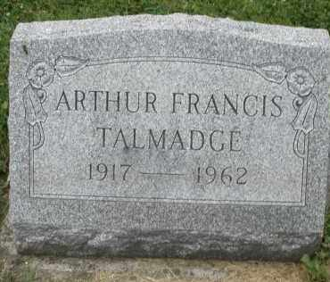 TALMADGE, ARTHUR FRANCIS - Warren County, Ohio | ARTHUR FRANCIS TALMADGE - Ohio Gravestone Photos