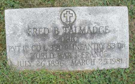 TALMADGE, FRED B. - Warren County, Ohio | FRED B. TALMADGE - Ohio Gravestone Photos