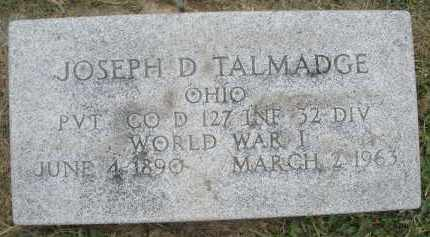 TALMADGE, JOSEPH D. - Warren County, Ohio | JOSEPH D. TALMADGE - Ohio Gravestone Photos