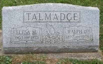 TALMADGE, ELESA M. - Warren County, Ohio | ELESA M. TALMADGE - Ohio Gravestone Photos