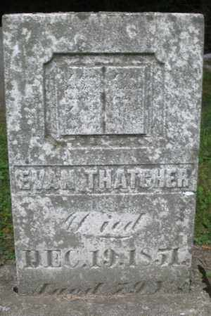 THATCHER, EVAN - Warren County, Ohio | EVAN THATCHER - Ohio Gravestone Photos