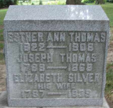SILVER THOMAS, ELIZABETH - Warren County, Ohio | ELIZABETH SILVER THOMAS - Ohio Gravestone Photos