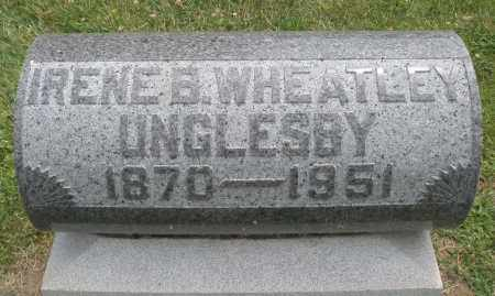 WHEATLEY UNGLESBY, IRENE B. - Warren County, Ohio | IRENE B. WHEATLEY UNGLESBY - Ohio Gravestone Photos