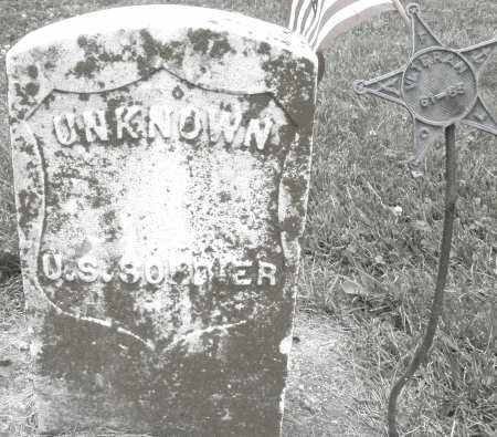 UNKNOWN, CIVIL WAR SOLDIER - Warren County, Ohio | CIVIL WAR SOLDIER UNKNOWN - Ohio Gravestone Photos