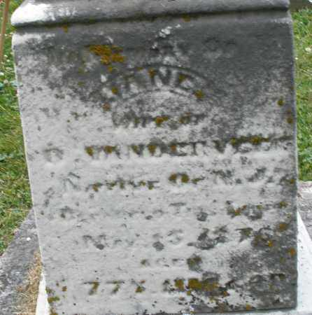 VANDERVEER, JANE - Warren County, Ohio | JANE VANDERVEER - Ohio Gravestone Photos