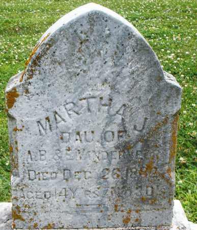 VANDERVEER, MARTHA J. - Warren County, Ohio | MARTHA J. VANDERVEER - Ohio Gravestone Photos