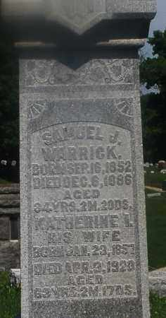 WARRICK, SAMUEL J. - Warren County, Ohio | SAMUEL J. WARRICK - Ohio Gravestone Photos
