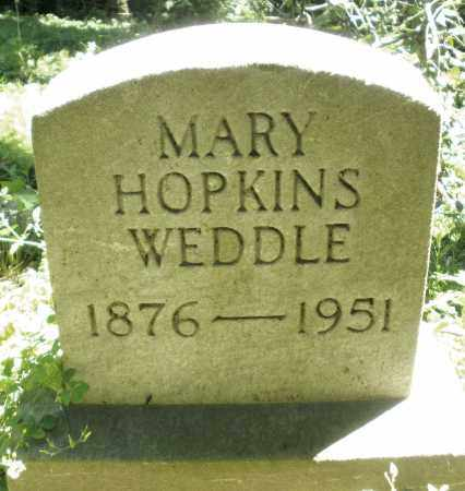 HOPKINS WEDDLE, MARY - Warren County, Ohio | MARY HOPKINS WEDDLE - Ohio Gravestone Photos