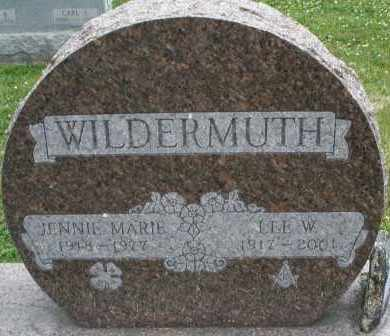 WILDERMUTH, JENNIE MARIE - Warren County, Ohio | JENNIE MARIE WILDERMUTH - Ohio Gravestone Photos