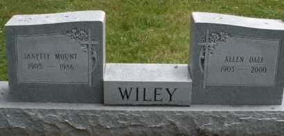 WILEY, JANETTE - Warren County, Ohio | JANETTE WILEY - Ohio Gravestone Photos
