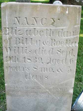 WILLIS, NANCY ELIZABETH - Warren County, Ohio | NANCY ELIZABETH WILLIS - Ohio Gravestone Photos