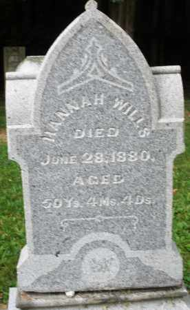 WILLS, HANNAH - Warren County, Ohio | HANNAH WILLS - Ohio Gravestone Photos