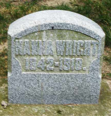 WRIGHT, HANNA - Warren County, Ohio | HANNA WRIGHT - Ohio Gravestone Photos