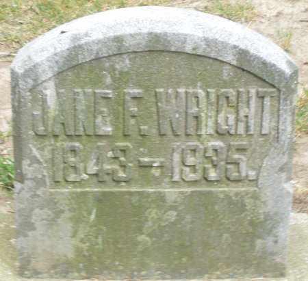 WRIGHT, JANE F. - Warren County, Ohio | JANE F. WRIGHT - Ohio Gravestone Photos