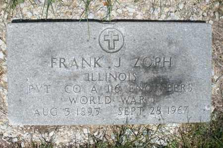 ZOPH, FRANK J. - Warren County, Ohio | FRANK J. ZOPH - Ohio Gravestone Photos