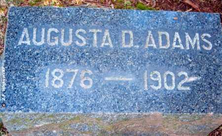 ADAMS, AUGUSTA D. - Washington County, Ohio | AUGUSTA D. ADAMS - Ohio Gravestone Photos