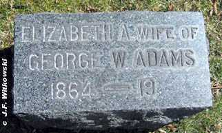 ADAMS, ELIZABETH A. - Washington County, Ohio | ELIZABETH A. ADAMS - Ohio Gravestone Photos
