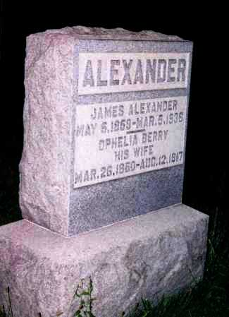 ALEXANDER, OPHELIA - Washington County, Ohio | OPHELIA ALEXANDER - Ohio Gravestone Photos