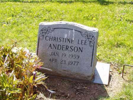 ANDERSON, CHRISTINE LEE - Washington County, Ohio | CHRISTINE LEE ANDERSON - Ohio Gravestone Photos