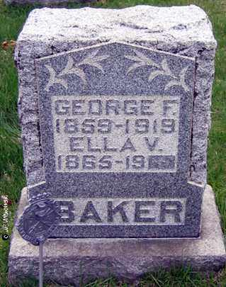 BAKER, ELLA V. - Washington County, Ohio | ELLA V. BAKER - Ohio Gravestone Photos