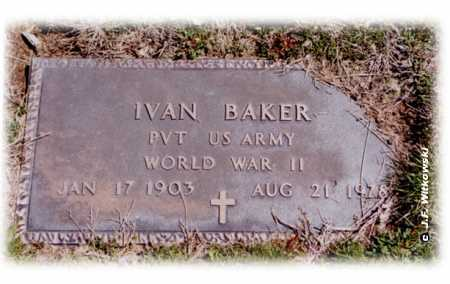 BAKER, IVAN - Washington County, Ohio | IVAN BAKER - Ohio Gravestone Photos