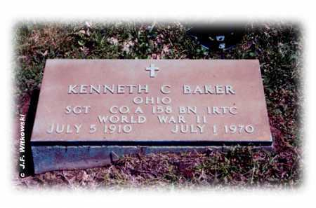 BAKER, KENNETH C. - Washington County, Ohio | KENNETH C. BAKER - Ohio Gravestone Photos