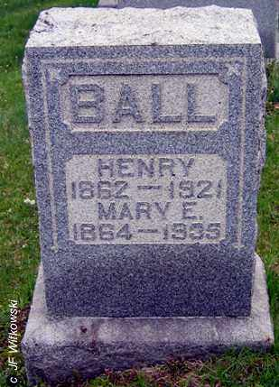 SHOCKLEY BALL, MARY E. - Washington County, Ohio | MARY E. SHOCKLEY BALL - Ohio Gravestone Photos