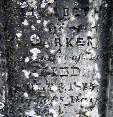 BARKER, ELIZABETH - Washington County, Ohio | ELIZABETH BARKER - Ohio Gravestone Photos