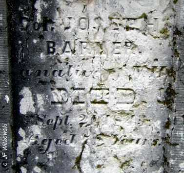 BARKER, JOSEPH - Washington County, Ohio | JOSEPH BARKER - Ohio Gravestone Photos
