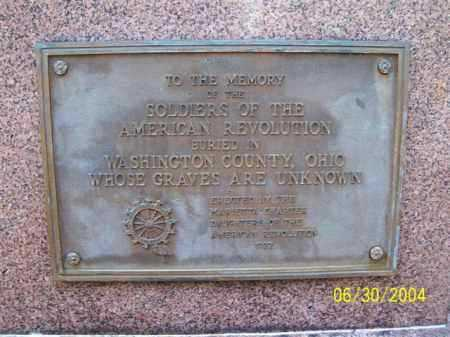 BARSTOW, CALEB - PLAQUE - Washington County, Ohio | CALEB - PLAQUE BARSTOW - Ohio Gravestone Photos