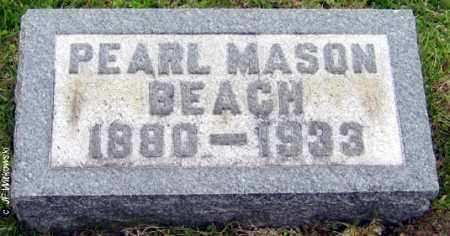 MASON BEACH, PEARL MONTEITH - Washington County, Ohio | PEARL MONTEITH MASON BEACH - Ohio Gravestone Photos