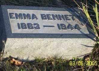 BENNETT, EMMA - Washington County, Ohio | EMMA BENNETT - Ohio Gravestone Photos