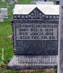 BLANKENBUEHLER, GEORGE ADAM - Washington County, Ohio | GEORGE ADAM BLANKENBUEHLER - Ohio Gravestone Photos