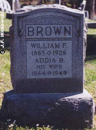 ADAMS BROWN, ADDIA BELL - Washington County, Ohio | ADDIA BELL ADAMS BROWN - Ohio Gravestone Photos