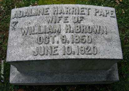 PAPE BROWN, ADALINE HARRIET - Washington County, Ohio | ADALINE HARRIET PAPE BROWN - Ohio Gravestone Photos