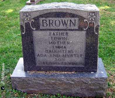 BROWN, EMMA - Washington County, Ohio | EMMA BROWN - Ohio Gravestone Photos