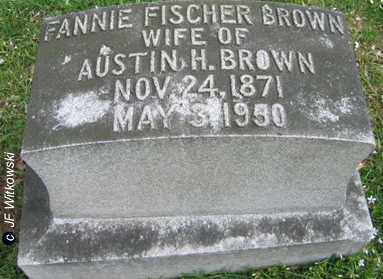 FISCHER BROWN, FANNIE - Washington County, Ohio | FANNIE FISCHER BROWN - Ohio Gravestone Photos