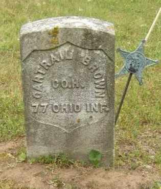 BROWN, GARTRAIL - Washington County, Ohio | GARTRAIL BROWN - Ohio Gravestone Photos