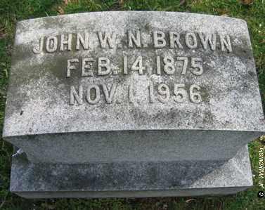 BROWN, JOHN W. N. - Washington County, Ohio | JOHN W. N. BROWN - Ohio Gravestone Photos