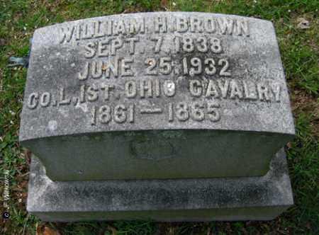 BROWN, WILLIAM H. - Washington County, Ohio | WILLIAM H. BROWN - Ohio Gravestone Photos