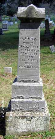 CAMPBELL DANIELS, ELLA - Washington County, Ohio | ELLA CAMPBELL DANIELS - Ohio Gravestone Photos
