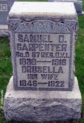 CARPENTER, SAMUEL D. - Washington County, Ohio | SAMUEL D. CARPENTER - Ohio Gravestone Photos